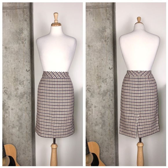 Talbots Dresses & Skirts - Talbots Wool Houndstooth Multi Pencil Skirt
